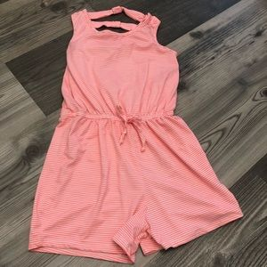 Btween Pink and White Striped Romper 10